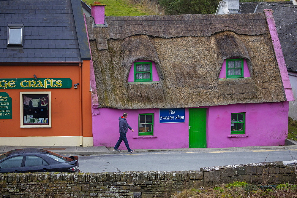 The Sweater Shop, Doolin, Cliffs Coastal Walk, County  Clare, Munster, Republic of Ireland, Europe