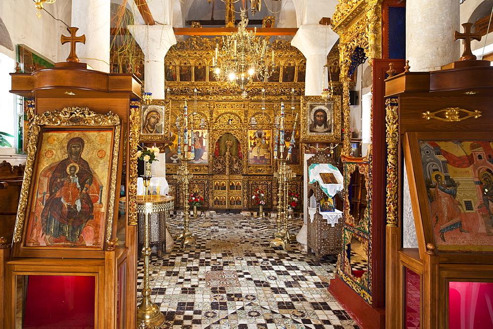 Monastery of Evangelismos, Skopelos, Sporades Island group, Greek Islands, Greece, Europe