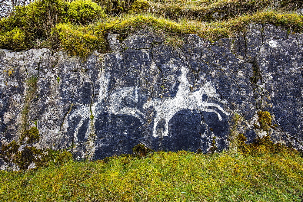 Burren, Ireland, cave paintings