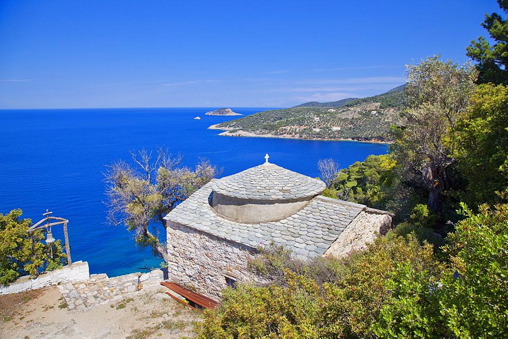 Holy Monastery of Agioi Anargyroi, Alonissos island, Sporades, Greece.