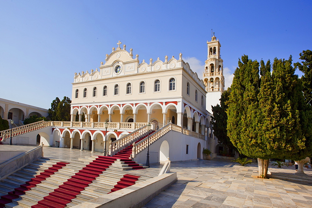 The church of Panagia Evangelistria, Tinos Island, Cyclades, Greek Islands, Greece, Europe
