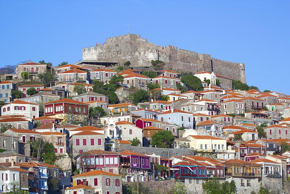 Village of Molivos, Lesvos Island, Greek Islands, Greece, Europe