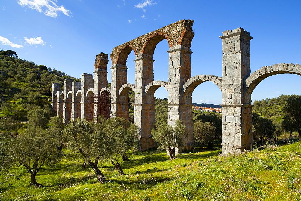 The Roman Aqueduct of Moria, Lesvos Island, Greece