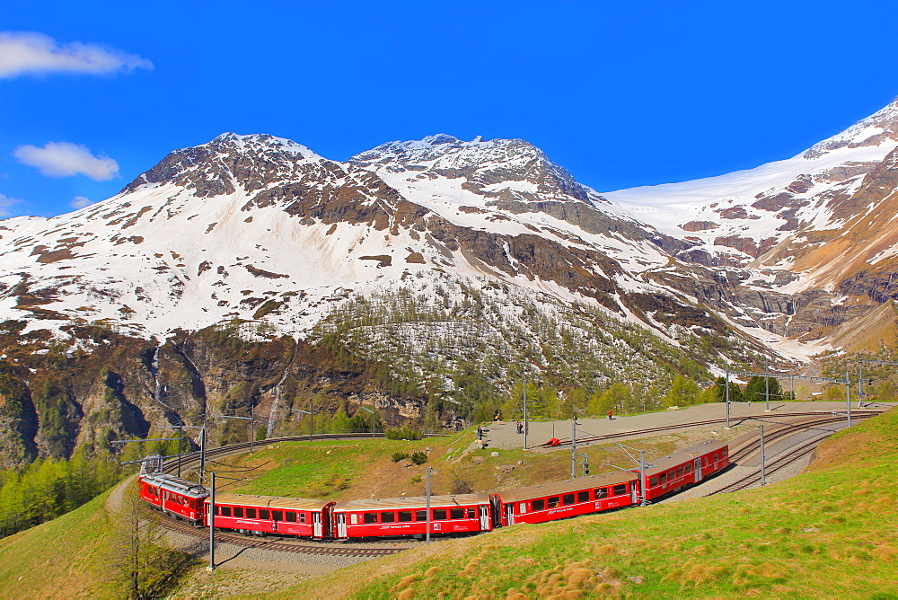 Alp Grum Station, Canton of Graubunden (Grigioni), Switzerland, Europe