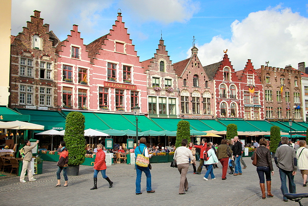 Markt Square, Bruges, Flemish Region, West Flanders, Belgium, Europe