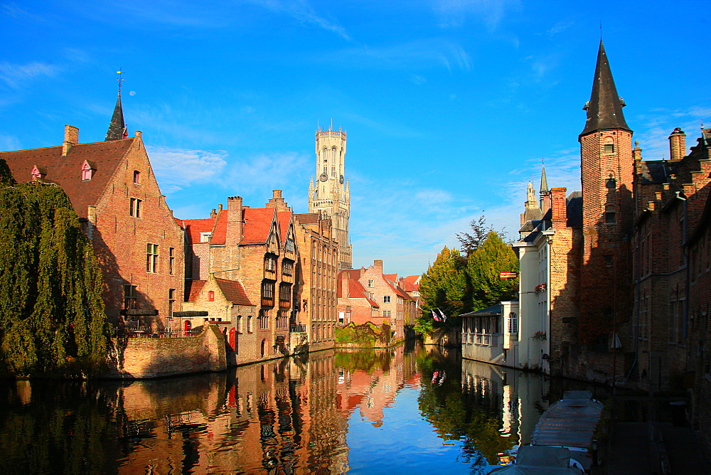 Rosary Quay, Bruges, UNESCO World Heritage Site, Flemish Region, West Flanders, Belgium, Europe