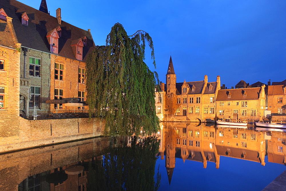 The Dijver Canal, Bruges, Flemish Region, West Flanders, Belgium, Europe