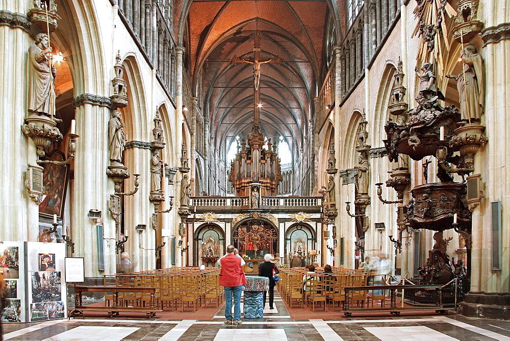 Notre Dame Church, Bruges, Flemish Region, West Flanders, Belgium, Europe