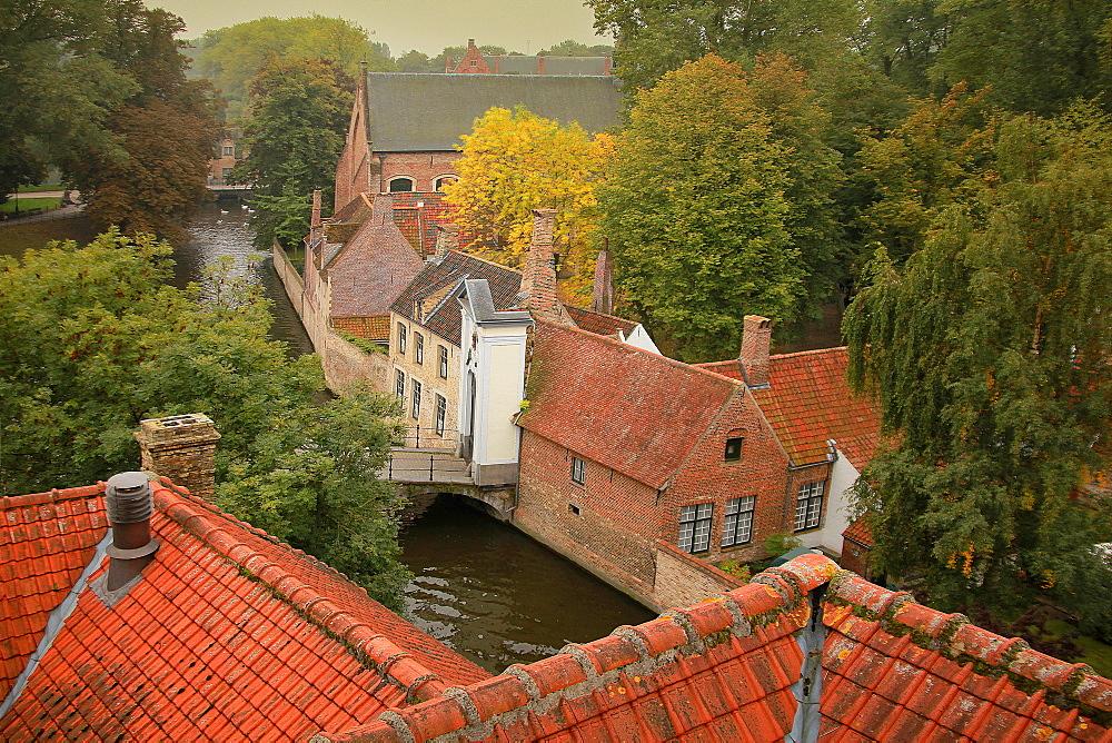 Beguinage, UNESCO World Heritage Site, Bruges, Flemish Region, West Flanders, Belgium, Europe