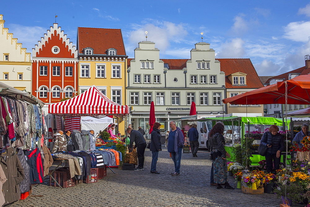 The central market square, Greifswald, Mecklenburg-Vorpommern, Germany