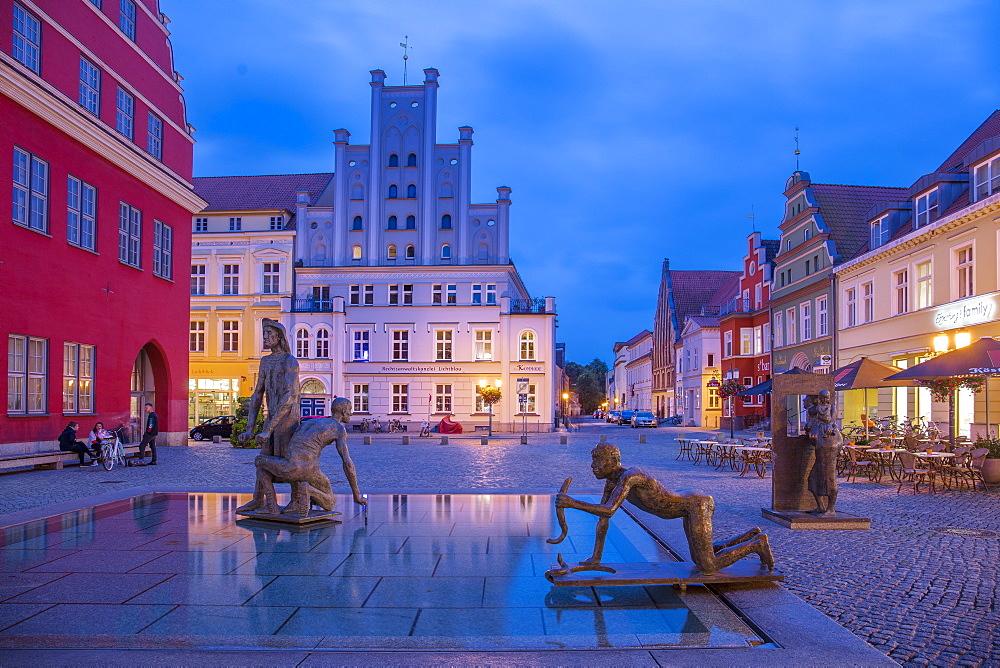 Fish Market square, Greifswald, Mecklenburg-Vorpommern, Germany, Europe