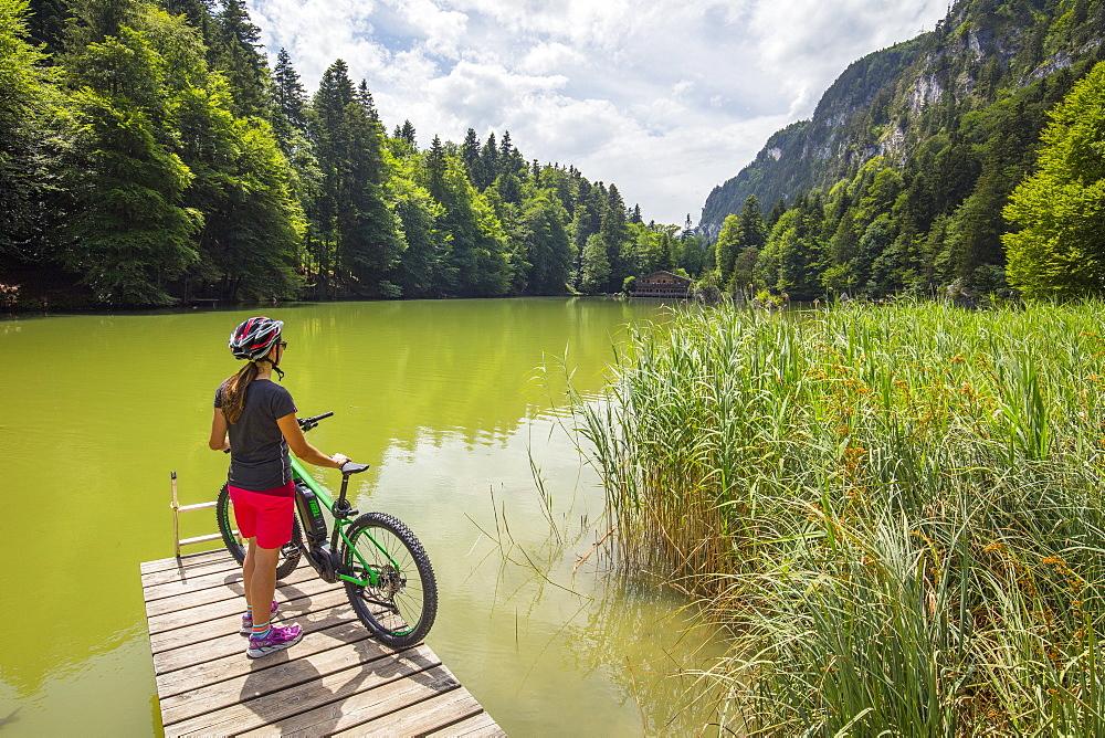 Berglsteiner lake, between Kramsach and Breitenbach, Tyrol, Austria, Europe