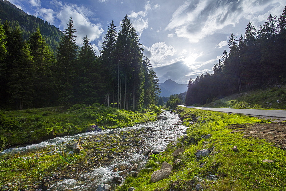 View near Sellrain, Tyrol, Austria, Europe