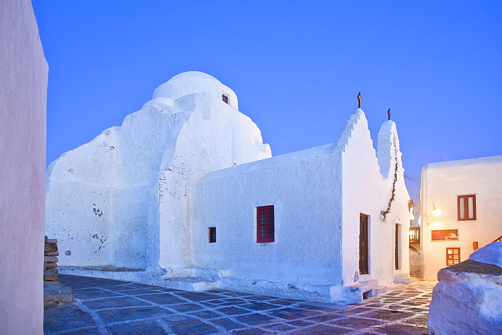 The Church of Panagia Paraportiani, Mykonos, Cyclades, South Aegean, Greek Islands, Greece, Europe