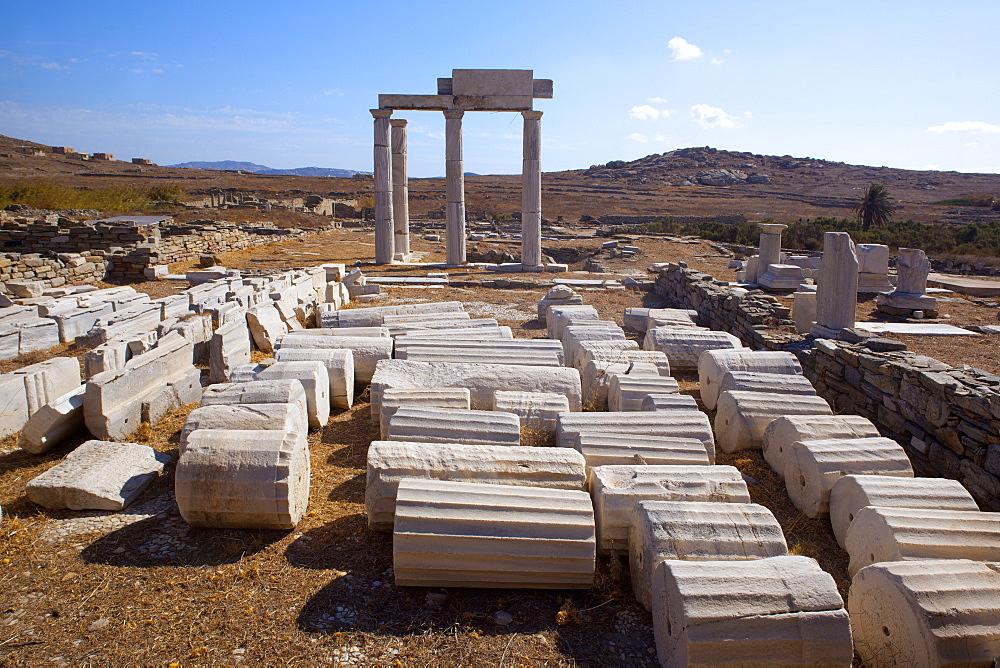 Delos Island, UNESCO World Heritage Site, South Aegean, Greek Islands, Greece, Europe