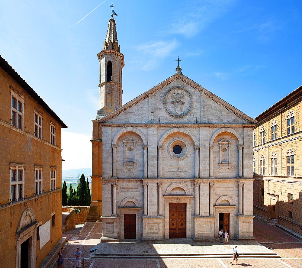 Pienza Cathedral, UNESCO World Heritage Site, Pienza, Tuscany, Italy, Europe