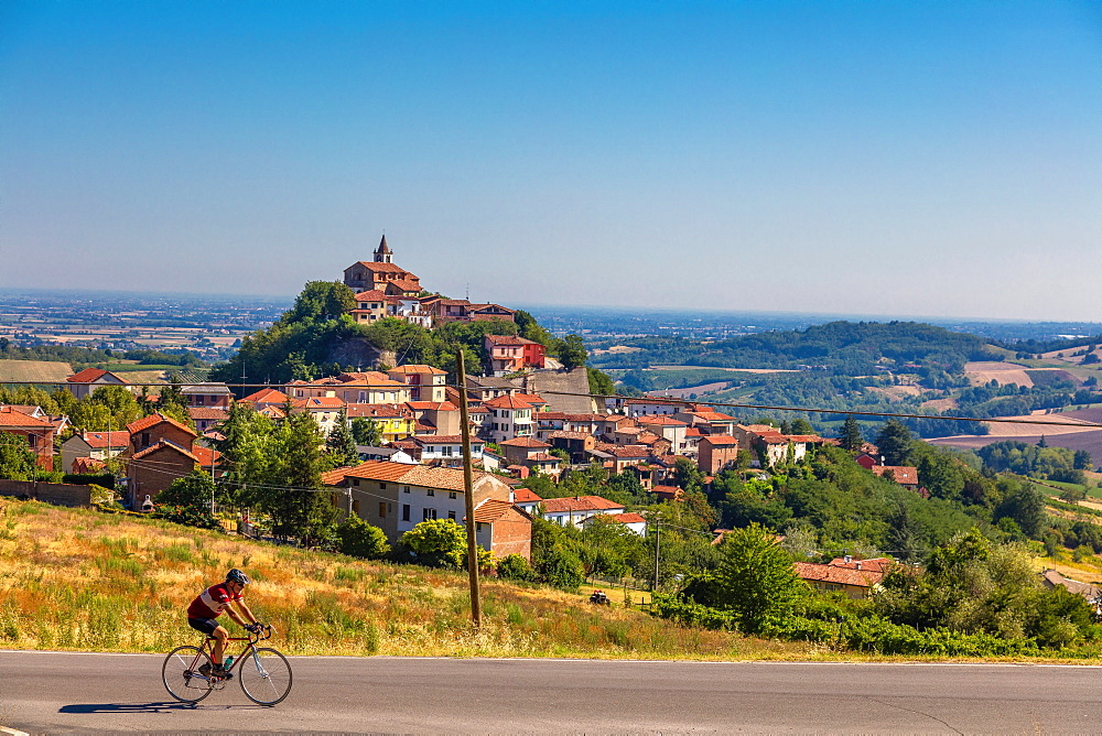 On the Fausto Coppi's roads, Sarezzano, Tortona area, Alessandria, Piedmont, Italy, Europe