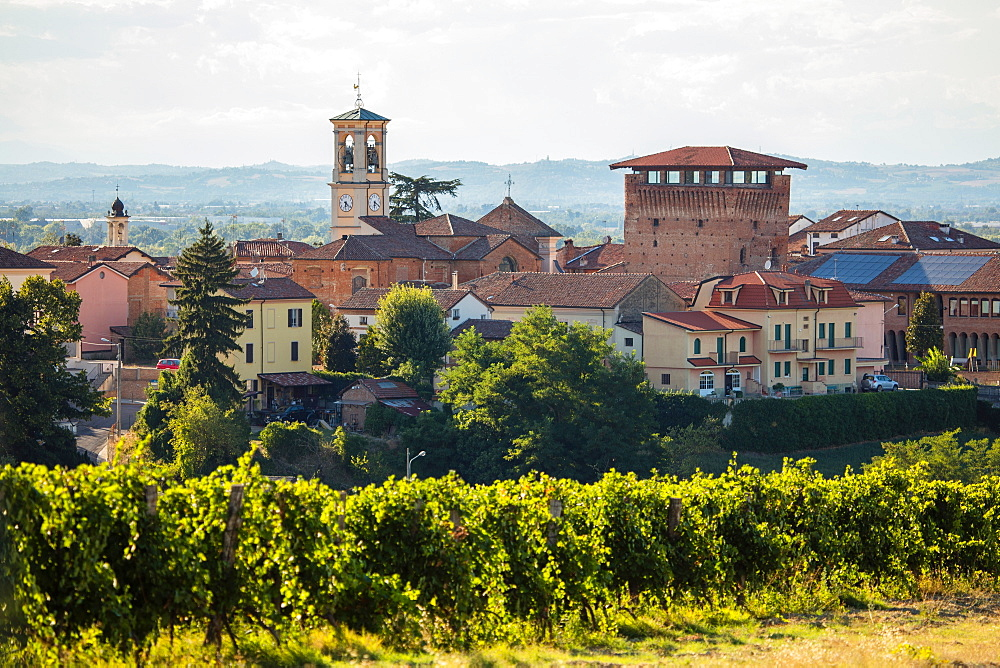 On the Fausto Coppi's roads, Carbonara, Tortona area, Alessandria, Piedmont, Italy, Europe