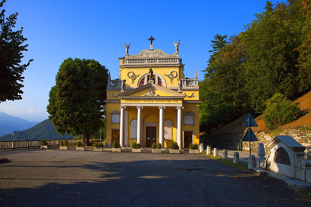 Sanctuary of the Madonna della Bocciola, Ameno, Piemonte (Piedmont), Italy, Europe