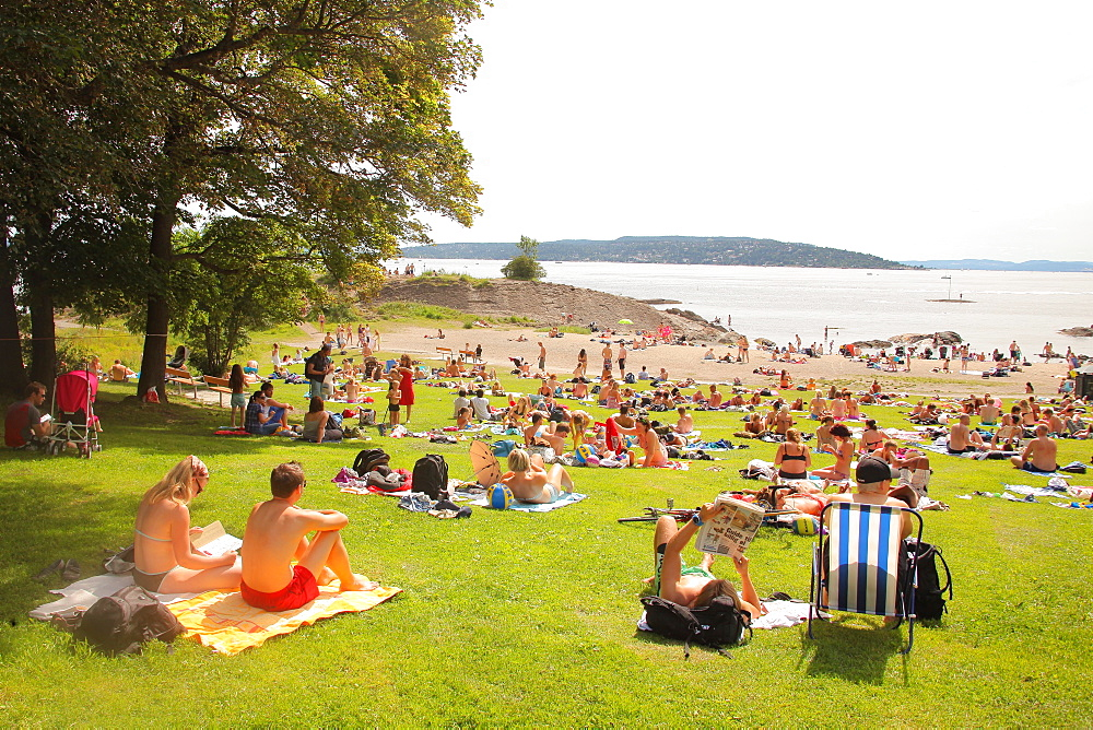 Huk Beach, Oslo, Norway