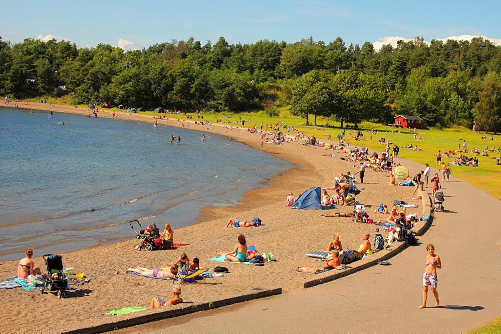 Langoyene Island Beach, Oslo, Norway, Scandinavia, Europe