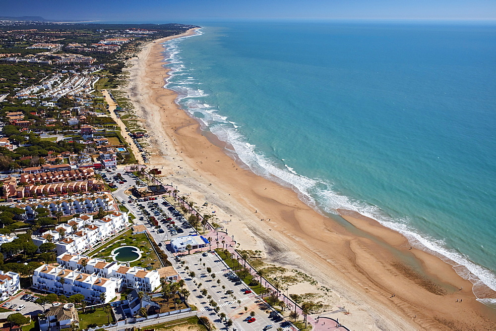 Aerial of Conil de la Frontera, Province of Cadiz, Andalucia, Spain, Europe