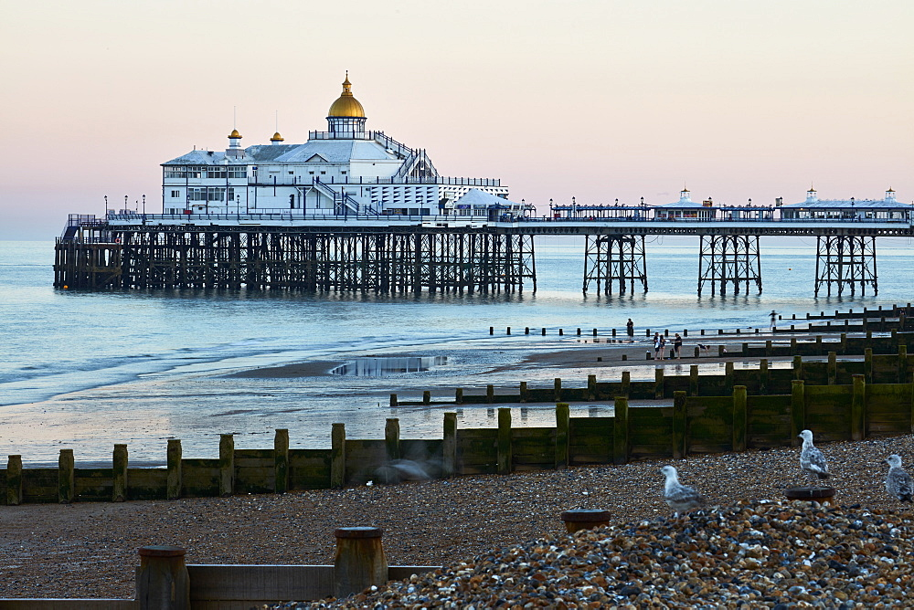 Eastbourne Pier in morning light, Eastbourne, East Sussex, England, United Kingdom, Europe - 1294-67