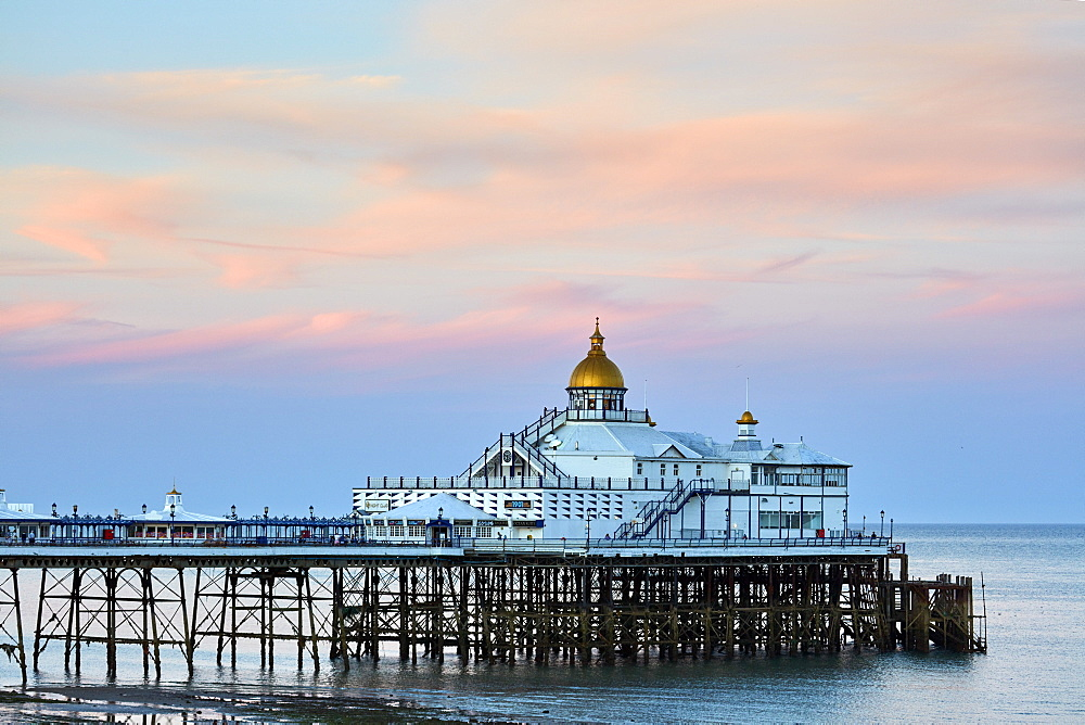 Eastbourne Pier at dusk, Eastbourne, East Sussex, England, United Kingdom, Europe - 1294-68
