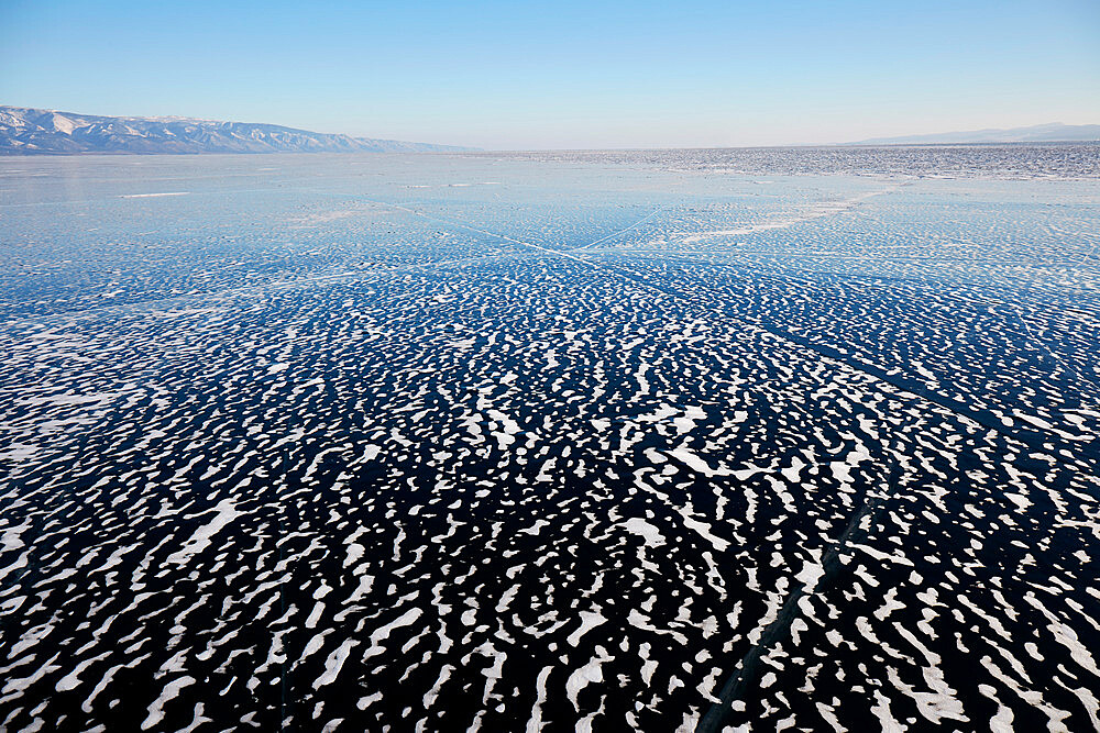 Lake Baikal in winter ice - 1294-84