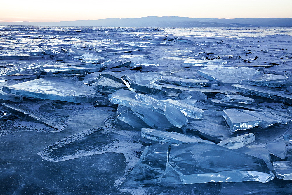Lake Baikal in winter ice, Siberia, Russia, Europe - 1294-86