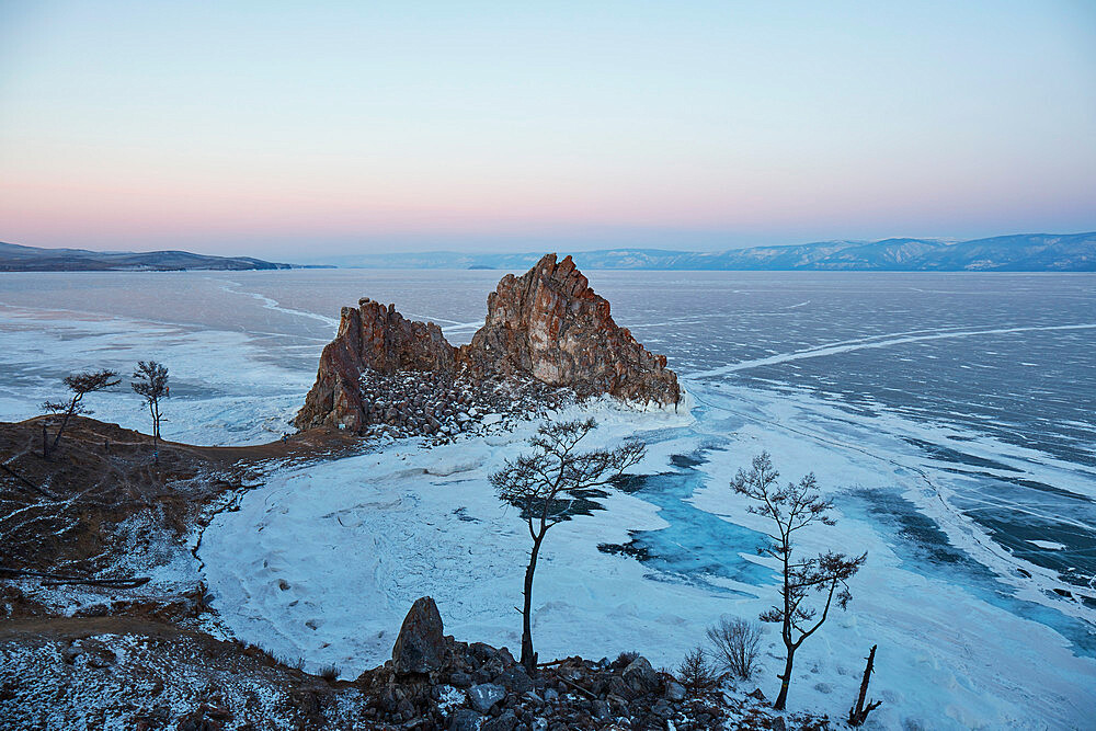 Lake Baikal in winter ice - 1294-87
