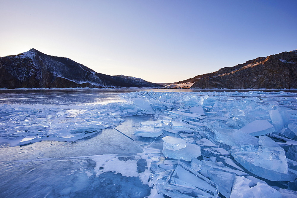 Lake Baikal in winter ice, Siberia, Russia, Europe - 1294-91