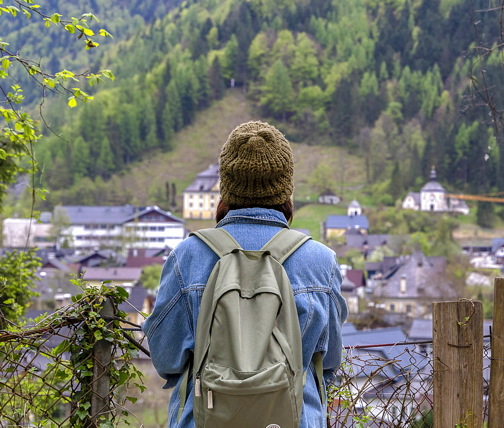 Taking in the views, Hallstatt, Austria, Europe