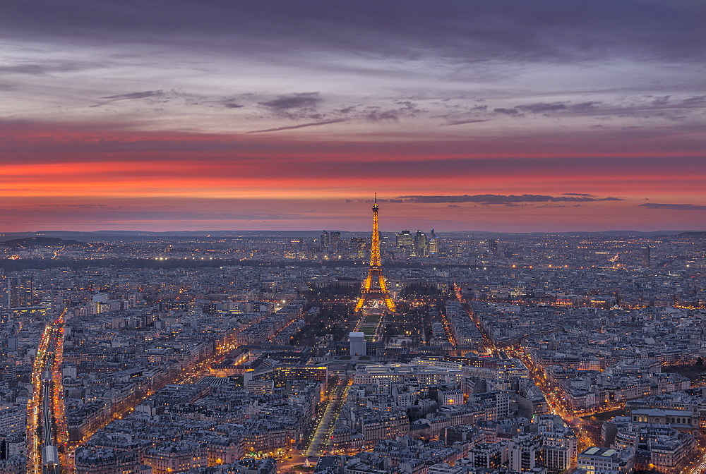 Sunset, Paris, France, Europe - 1296-21