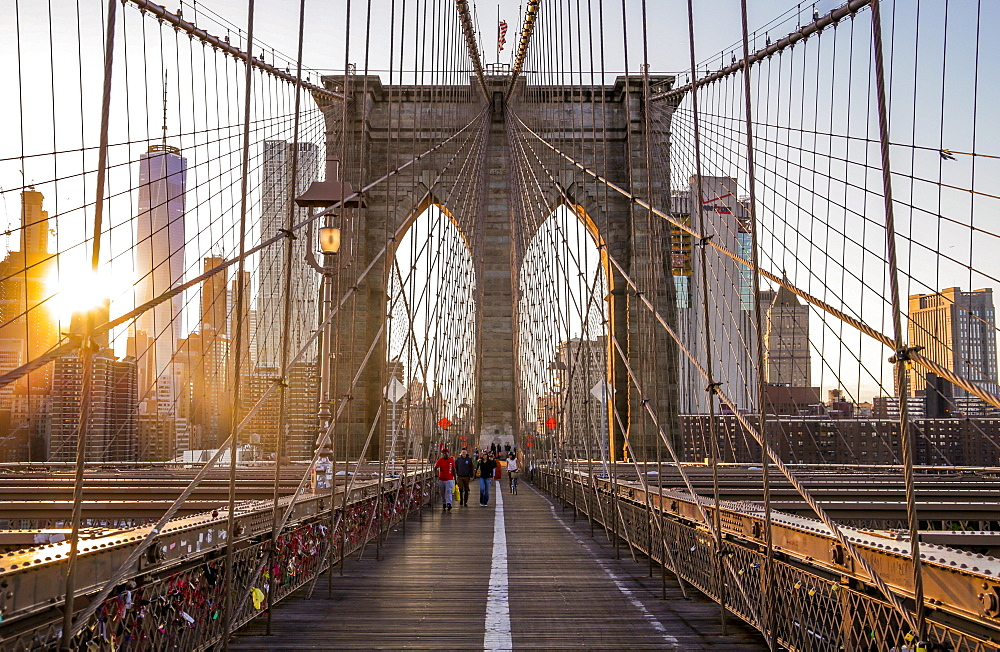 Brooklyn Bridge, New York, United States of America, North America - 1296-22