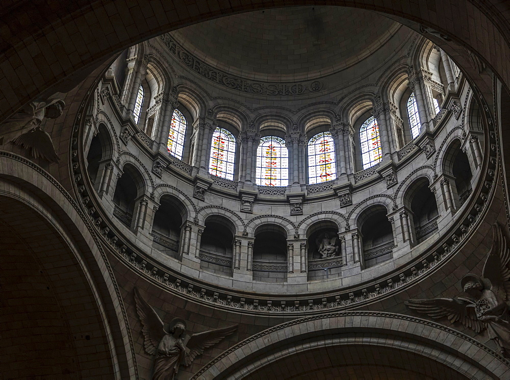 Sacre Coeur interior, Paris, France, Europe - 1296-4