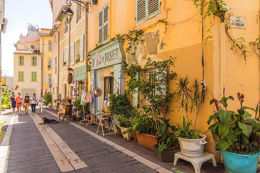 Le Panier, old town, Marseille, Bouches du Rhone, Provence, Provence Alpes Cote d'Azur, France, Mediterranean, Europe - 1297-1016