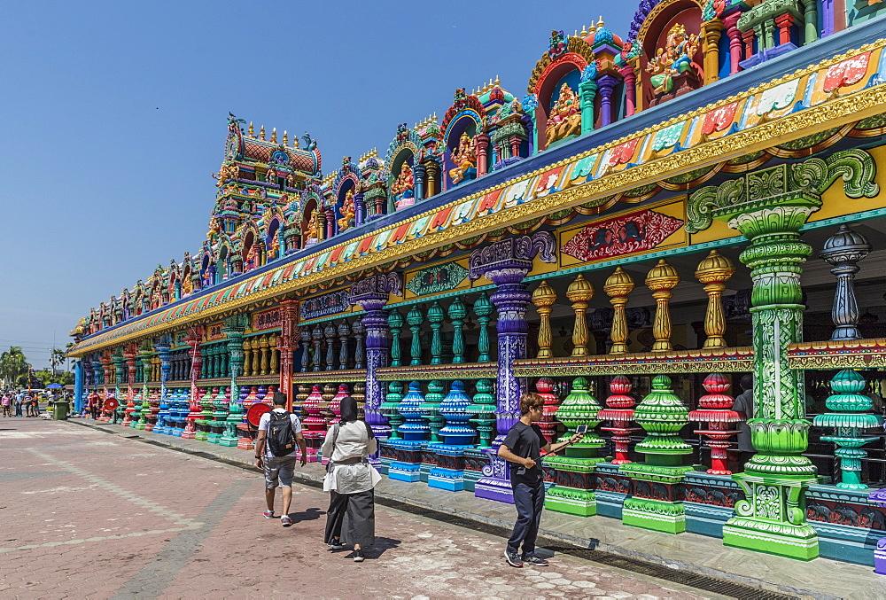 The colourful prayer hall at the Batu Caves, Kuala Lumpur, Malaysia, Southeast Asia, Asia - 1297-1033