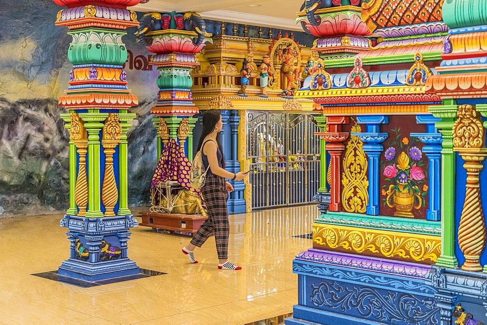 The colourful prayer hall at the Batu Caves, Kuala Lumpur, Malaysia, Southeast Asia, Asia - 1297-1037