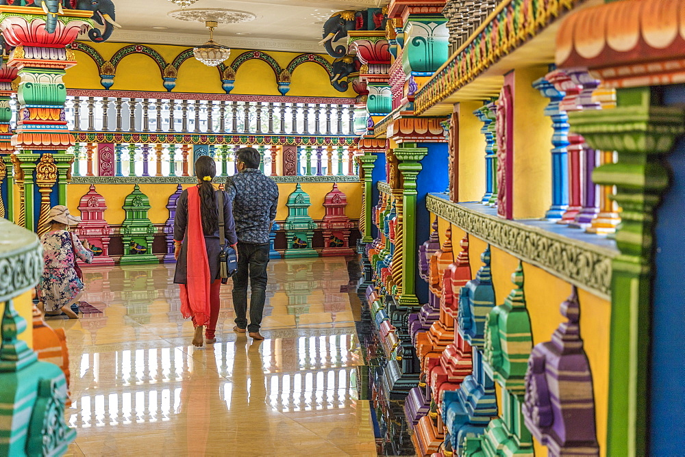 The colourful prayer hall at the Batu Caves, Kuala Lumpur, Malaysia, Southeast Asia, Asia