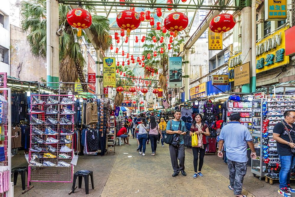 Petaling Street Market in Chinatown in Kuala Lumpur, Malaysia, Southeast Asia, Asia - 1297-1042