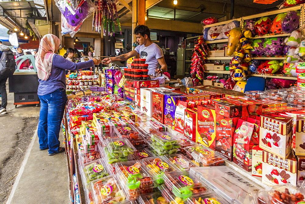 A colourful market stall in Kea Farm market in Cameron Highlands, Brinchang, Pahang, Malaysia, Southeast Asia, Asia - 1297-1056