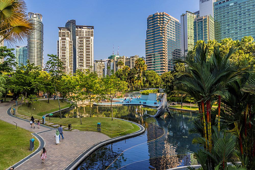 KLCC Park, Kuala Lumpur, Malaysia, Southeast Asia, Asia - 1297-1074