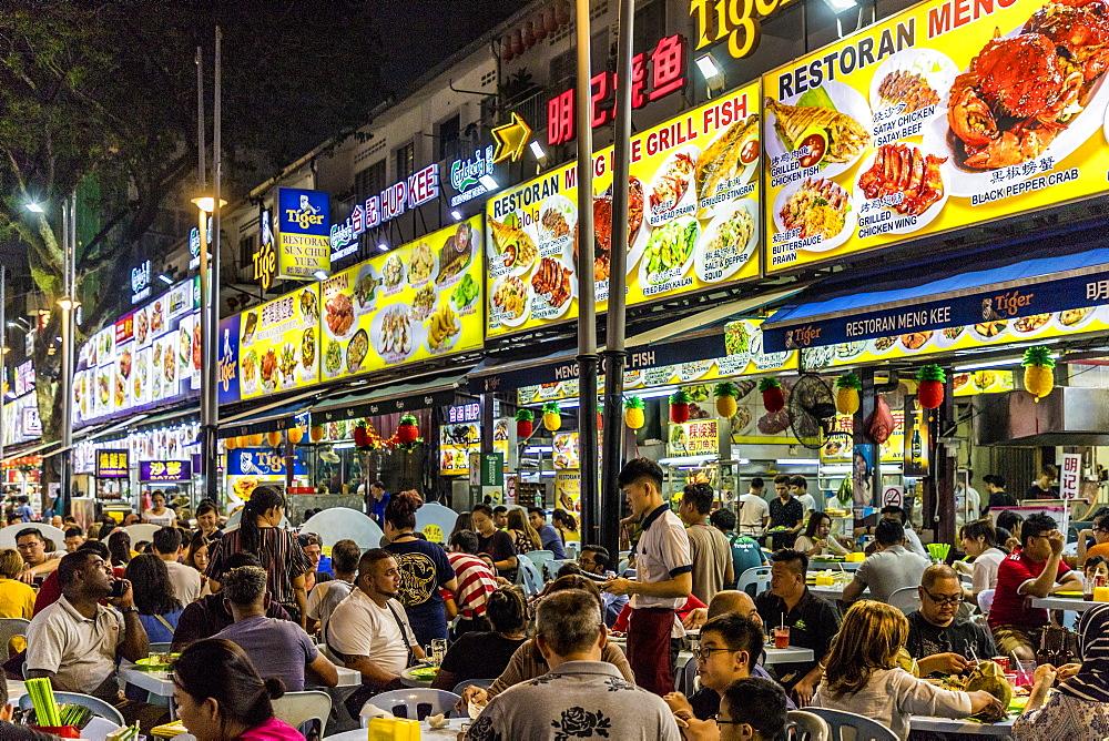 Jalan Alor Night Food Market in Kuala Lumpur, Malaysia, Southeast Asia, Asia - 1297-1078