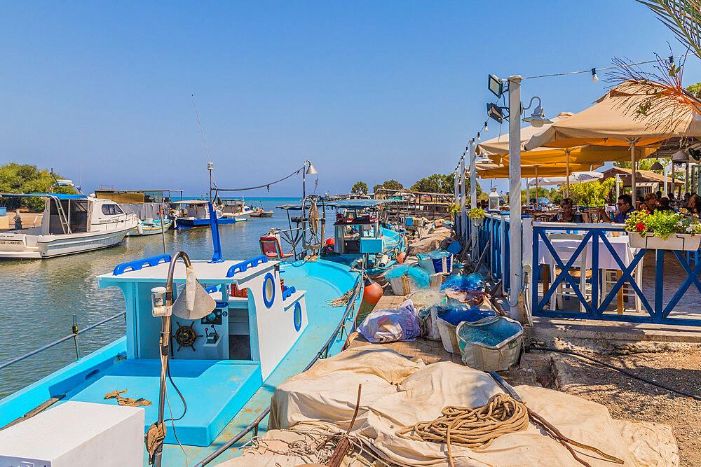 Linopetri Potamos river harbour in Cyprus, Europe - 1297-1087