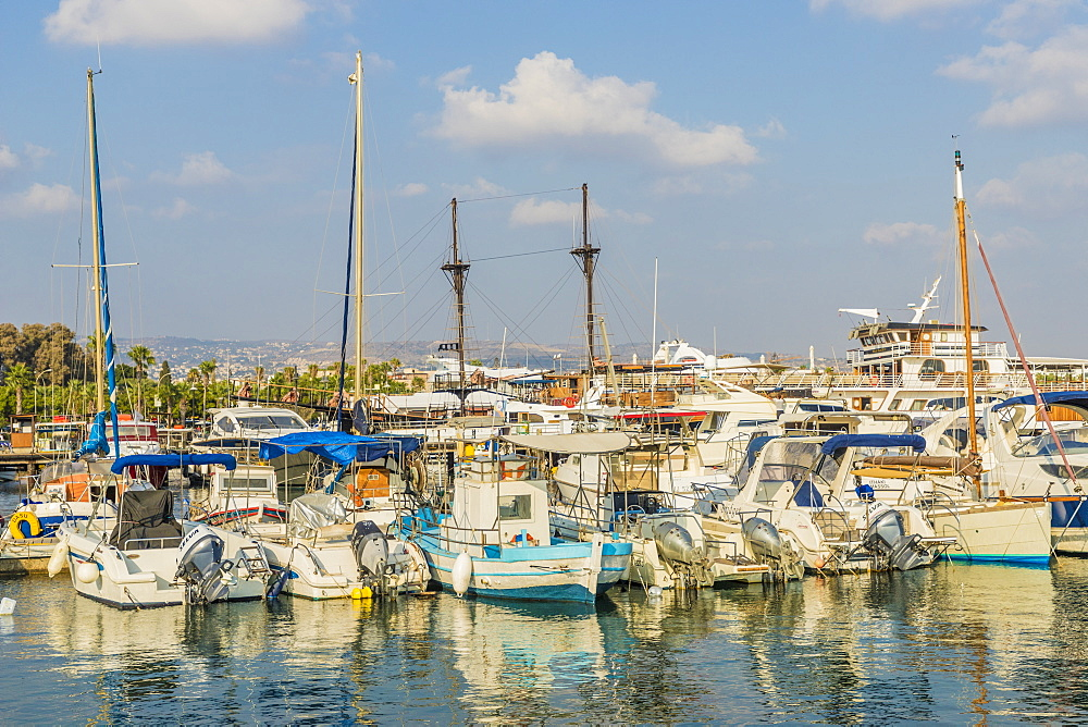The harbour in Paphos, Cyprus, Mediterranean, Europe