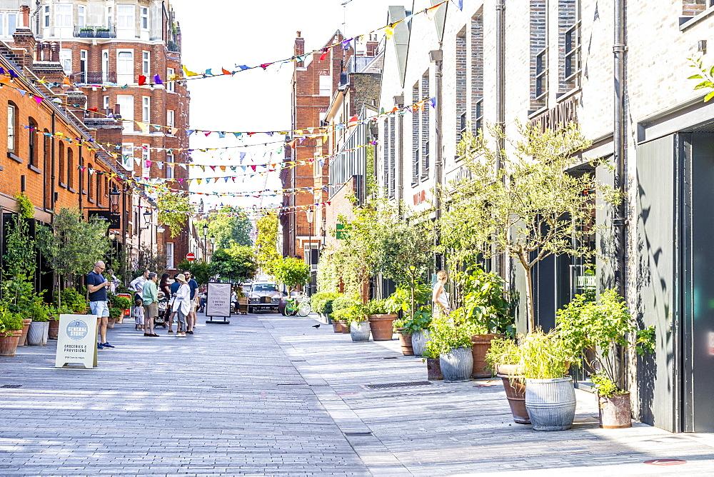 Pavillion road shopping street in Knightsbridge, London, England, UK Europe - 1297-1198