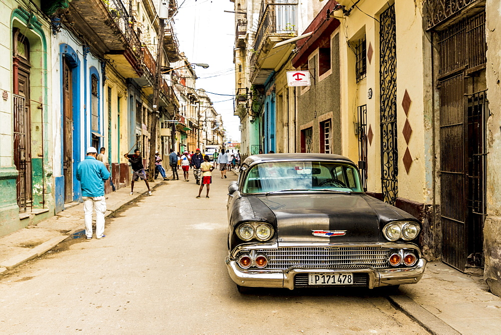 A typical street scene in Havana Cuba.