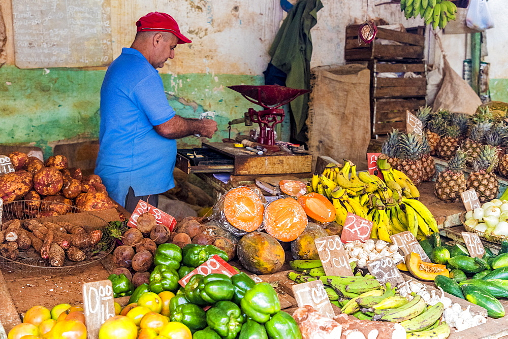 A local market in Havana, Cuba, West Indies, Central America