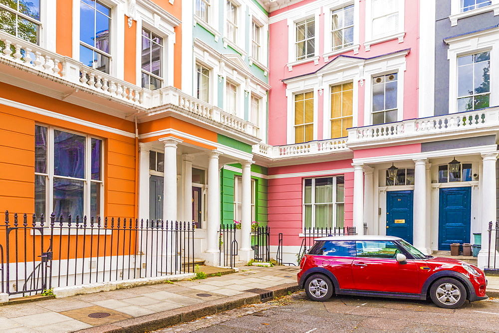 A colourful London street in Primrose Hill, London, England, United Kingdom. - 1297-140